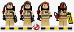 Complete Set Of 4 Ghostbusters Minifigures