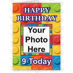 Happy Birthday Photo Age Big Brick BG 1