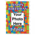 Happy Birthday Photo Age Small Brick BG 1