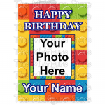 Happy Birthday Photo Name Big Brick BG 1