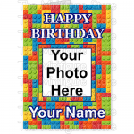 Happy Birthday Photo Name Small Brick BG 1