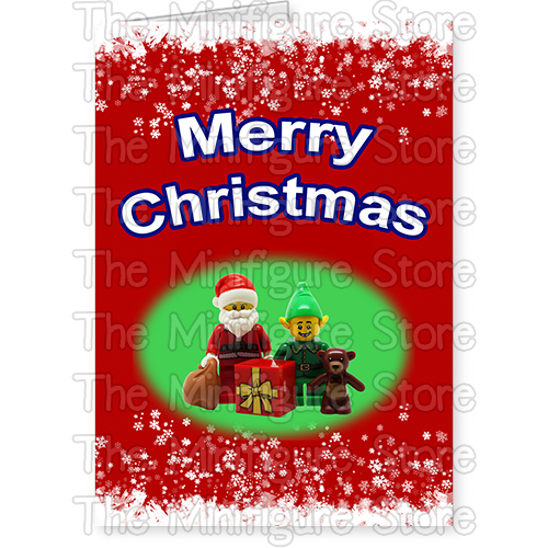 Merry Christmas Card with Santa and Elf - Folded Size: A6 - The ...