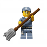 Janitor Series 15 LEGO Minifigures