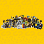 Series 1 LEGO Minifigures Complete Collection of 16 Minifigures