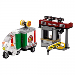 Energy Facility Security Booth with Pizza Delivery Booth LEGO Set 70910 No LEGO Minifigures