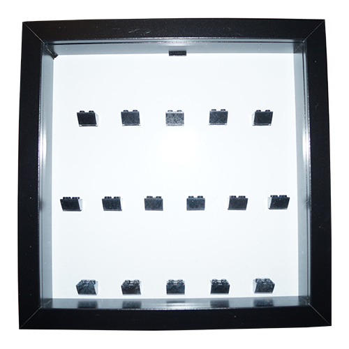 Black Minifigure Frame - Holds 16 LEGO Minifigures