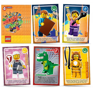 LEGO Create The World Trading Cards x4