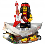 Gong and Guitar Rocker The LEGO NINJAGO Movie LEGO Minifigure 71019